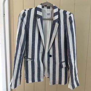 GAP Jackets & Coats - GAP linen stripe blazer - size 0
